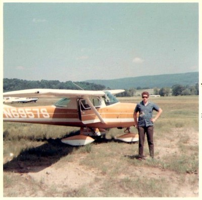 Glenn with his airplane at Stormville, 1968