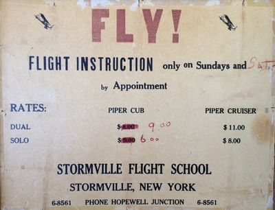 Learn to Fly at Stormville, about 1958